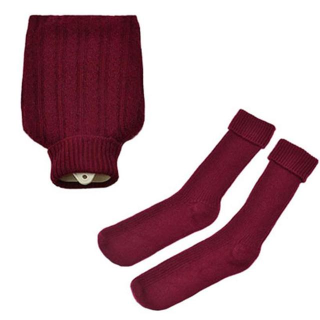 Hottie and Socks Set, Maroon