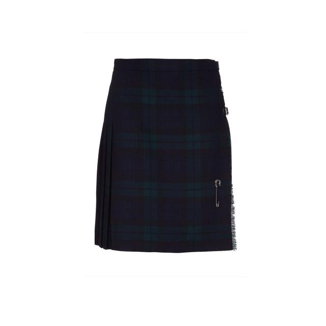 Ladies Pure Wool Kilt, Short, Back Watch