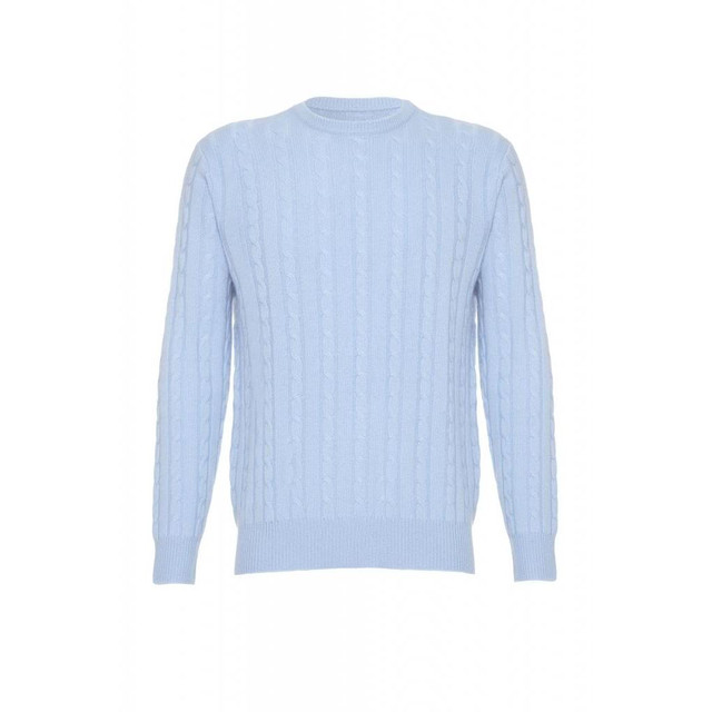 Cashmere Cable Jumper, Blue
