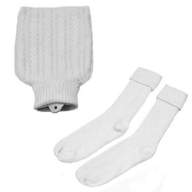 Hottie and Socks Set, White