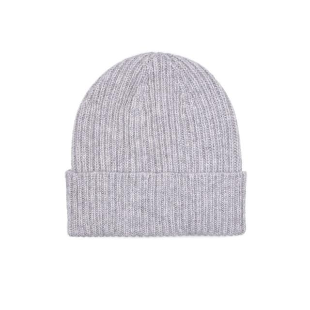 Mens Cashmere Beanie Hat, Grey