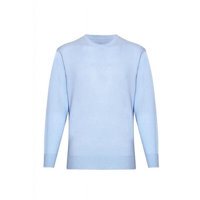 Cashmere Round Neck Jumper, Light Blue