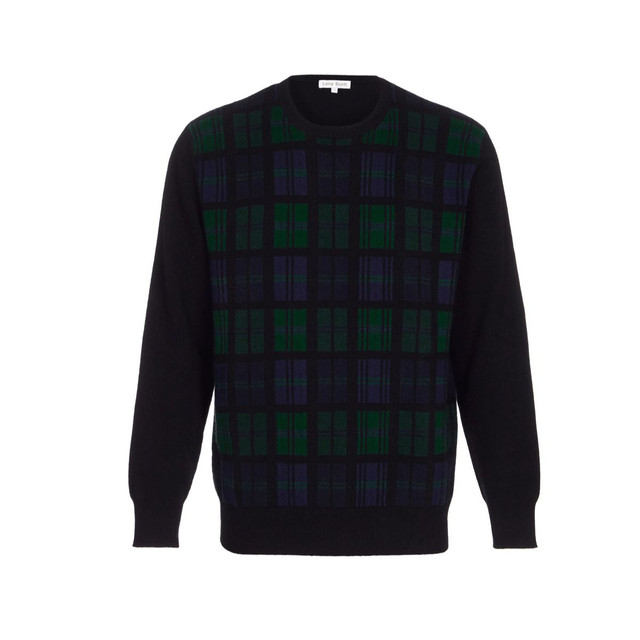 Black Watch Tartan Cashmere Jumper