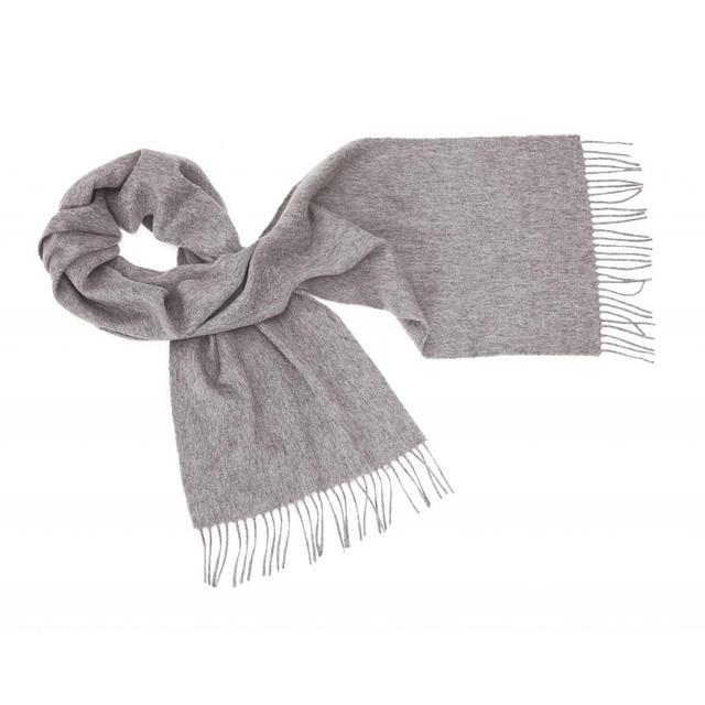 Cashmere Plain Scarf, Grey