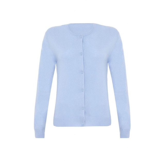 Cashmere Classic Cardigan, Baby Blue