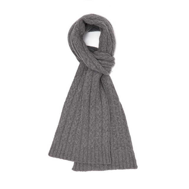 Cashmere Cable Scarf, Flannel