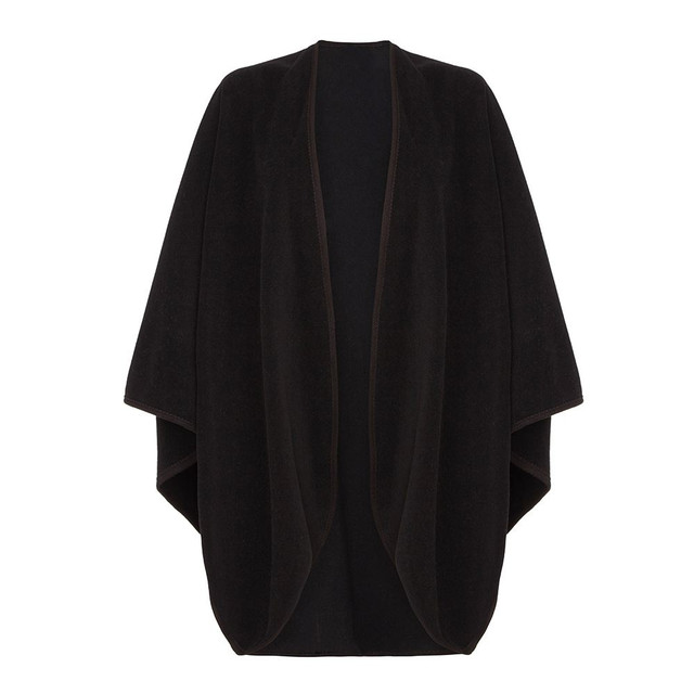 Cape with Trim, Black
