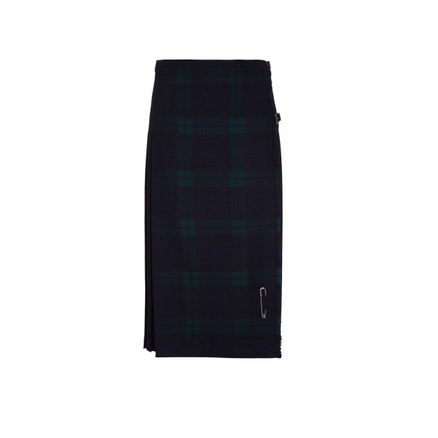 Ladies Pure Wool Kilt, Long, Black Watch