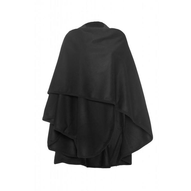 Cashmere Woven Cape, Black