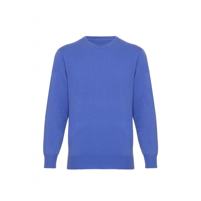 Electric Blue Cashmere Round Neck Jumper