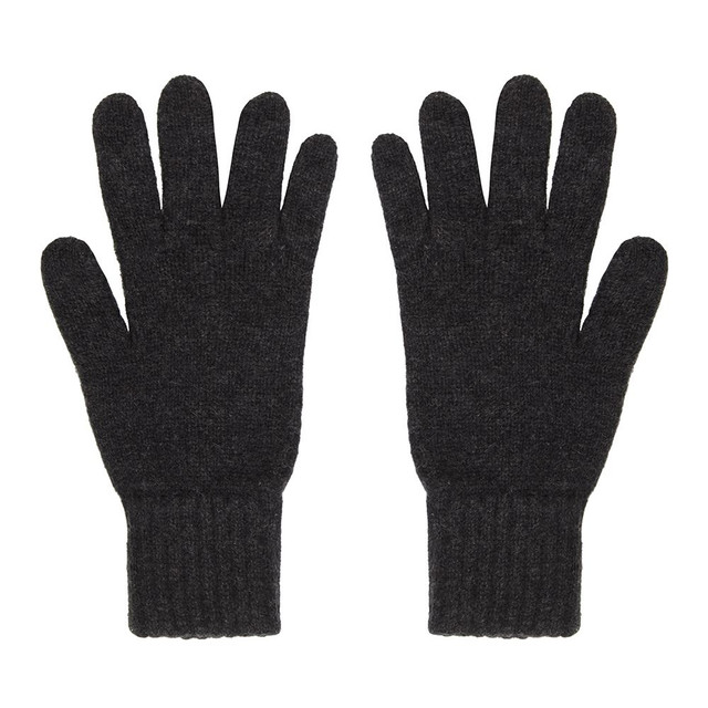 Cashmere Gloves, Mens, Charcoal