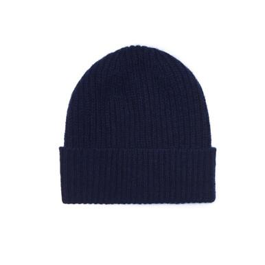 Cashmere Beanie Hat, Navy – Cashmere