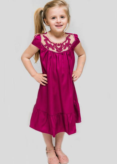 Strass Violet Dress