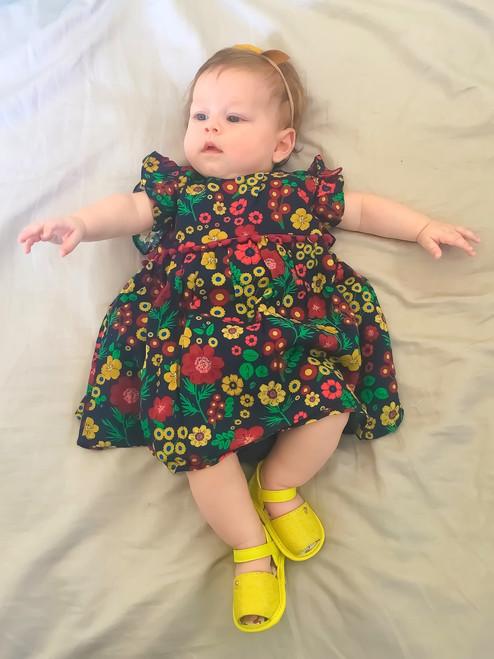 Dark Flower Baby Dress