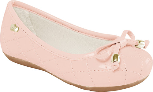 Quilted Stitch Ballet Flat Shoes - Girl