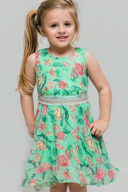 Verde Sparkle Girl Dress