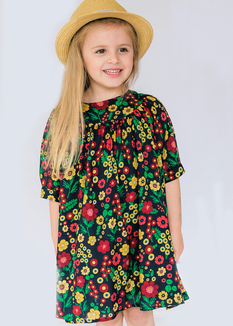 Dark Flower Girl Dress