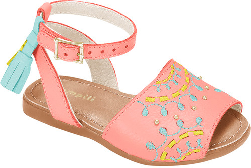 Embroidered Avarca Sandals  - Girl