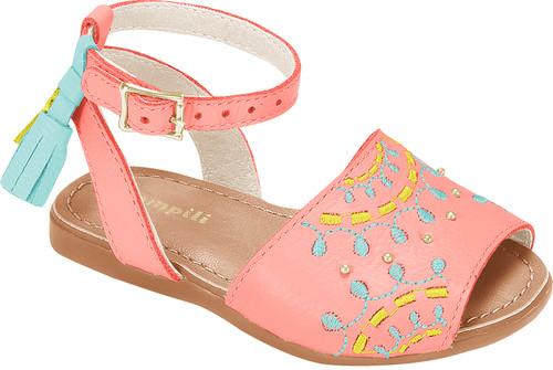 Embroidered Avarca Sandals  - Girl