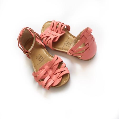 Lara Straps Leather Sandals - Girls
