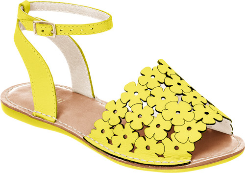 Flower Cutout  Avarca Sandals - Girls