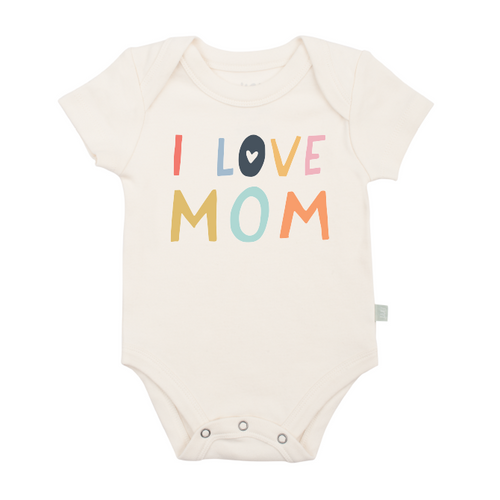 Organic Cotton I Love Mom Bodysuit