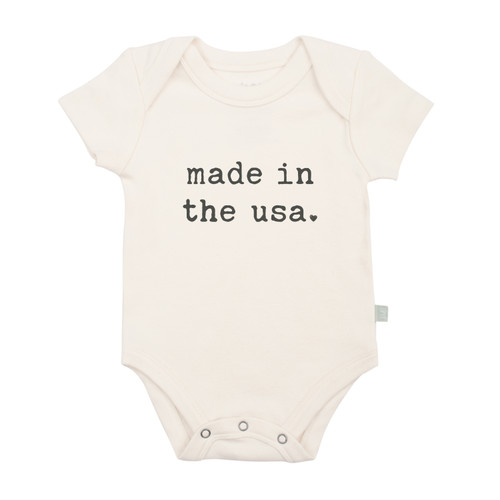 Organic Cotton Made in USA bodysuit