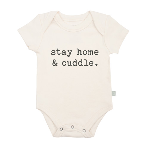 Organic Cotton Stay Home Cuddle bodysuit