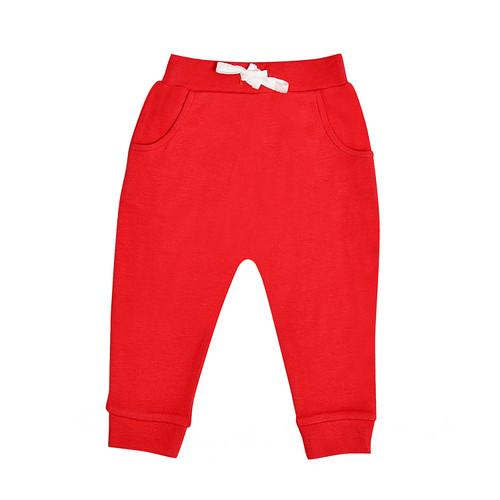 Organic Cotton Lounge Pants - Red