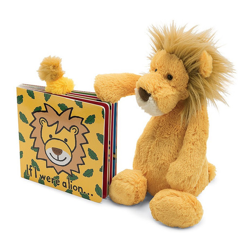 If I Were A Lion Book + Plush Gift Set