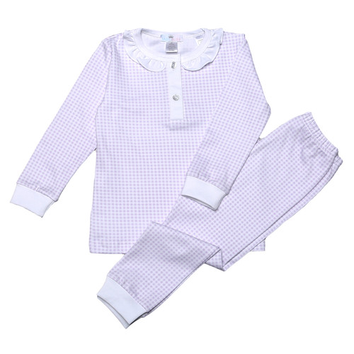 Purple Gingham 2 pc PJs