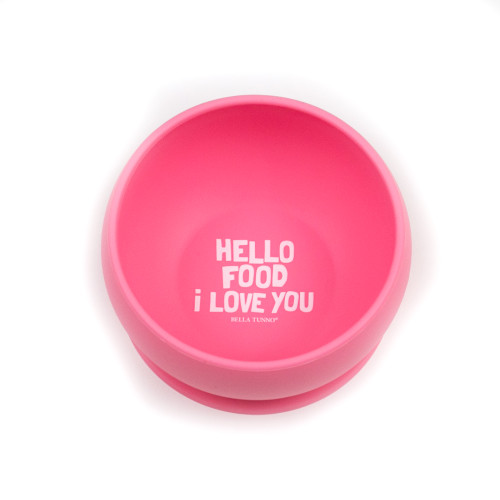 Hello Food Silicone Bowl