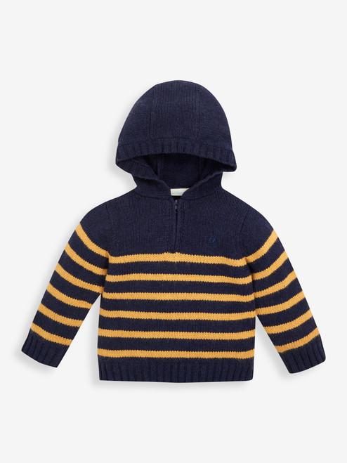 Stripe Hooded Sweater