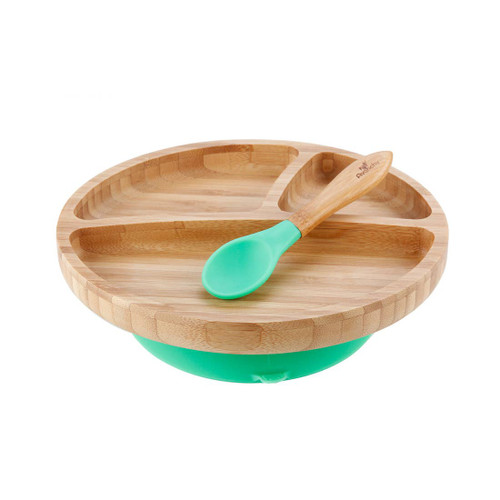 Bamboo/Silicone Plate & Spoon