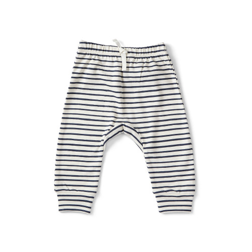 Stripes Away Harem Pants - Ink