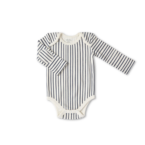 Stripe Away One Piece Bodysuit - Ink