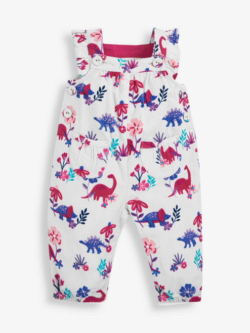 Dino Floral Corduroy Overall