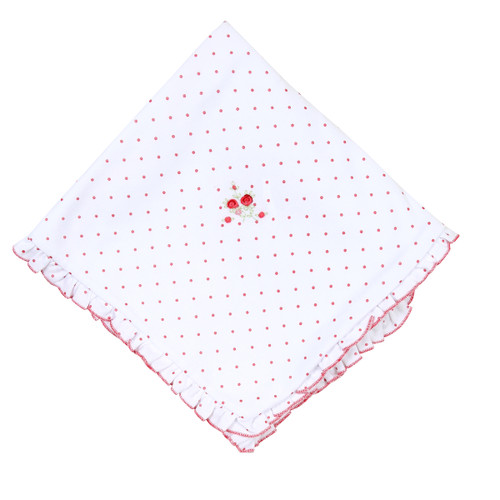 Red Rose Embroidered Blanket