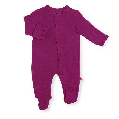 Plum Solid Modal Footie