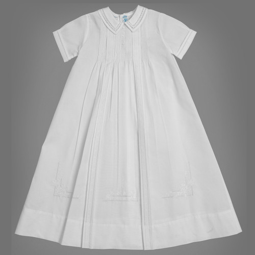 Boy Christening Gown, slip, hat st