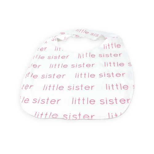 Organic Cotton Little Sister Snap Bib
