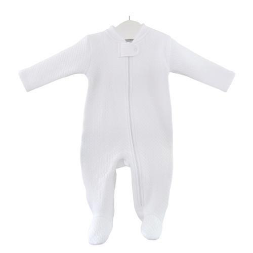 White Comfy Quilted Footie