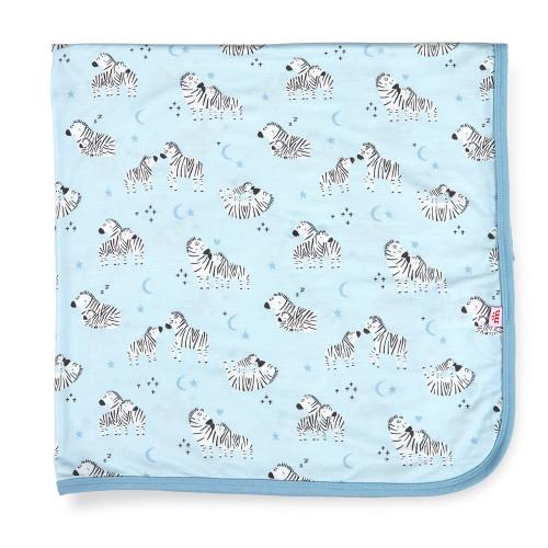 Blue Zebra Modal Blanket