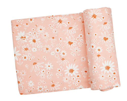 Swaddle Blanket - Pink Daisy