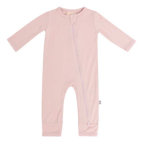 Bamboo Zippered Romper- Blush