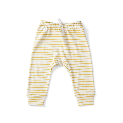 Stripes Away Harem Pants - Gold