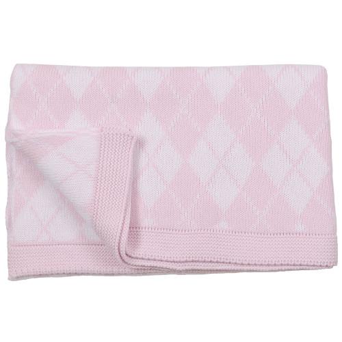 Argyle Baby Blanket - Pink