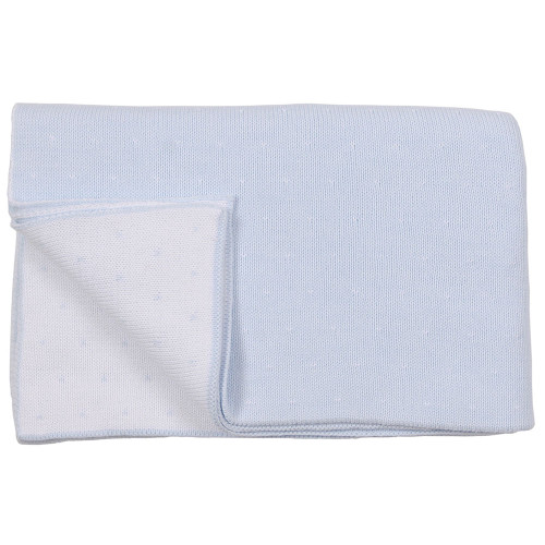 Pindot Baby Blanket - Blue