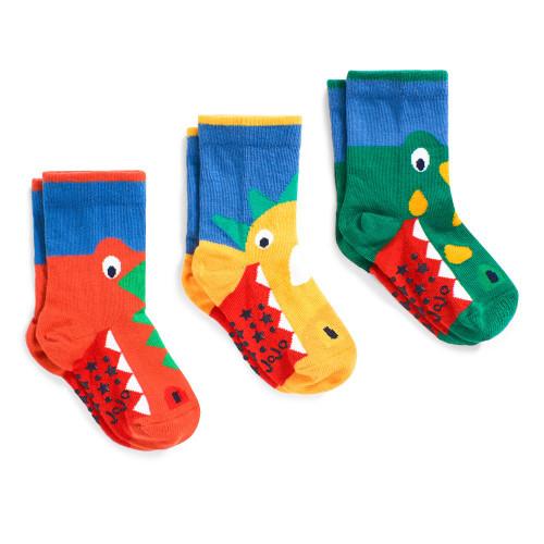 3 Pack Snappy Dino Socks