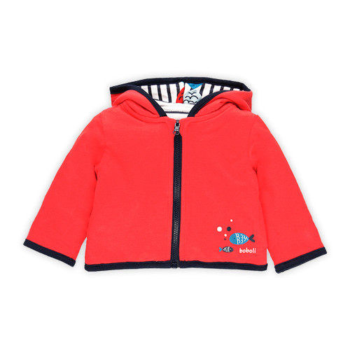 Red Stripe Reversible Jacket
